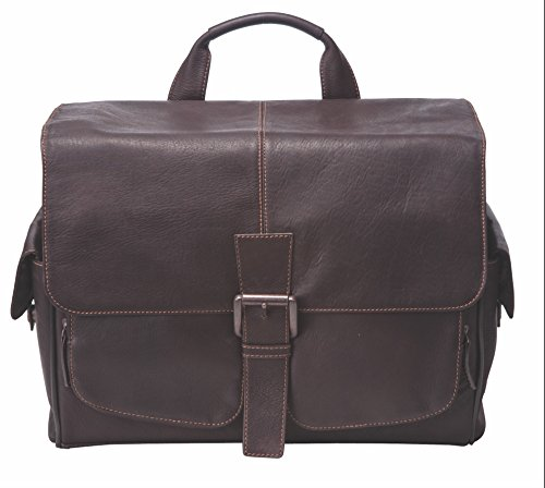 Jill-e Designs Professional Leather Camera Messenger Bag, Multi-Use, Brown (144744)