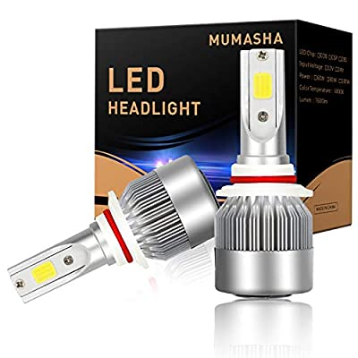 LED Headlight Bulbs Headlight bulb 9005 Hb3 All-in-One Conversion Kit Led headlights 9005 Hb3 with COB Chips 8000 Lm 6500K Cool White Beam Bulbs IP68 Waterproof: Automotive