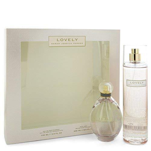 Lovely by Sarah Jessica Parker Gift Set - 3.4 oz Eau De Parfum Spray 8 oz Body Mist Women