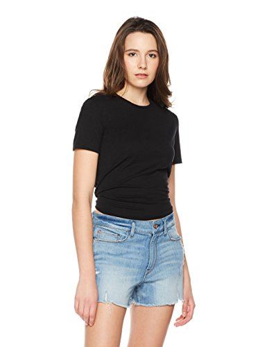 Something for Everyone Women's Jersey Crop Top With Tie Back Small Black Jack