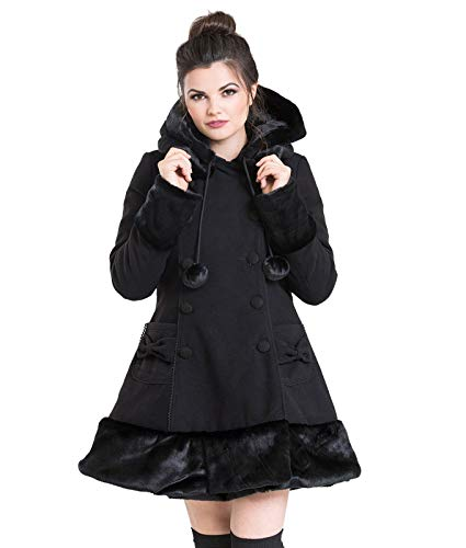 Sarah Coat Mujer Jane Hell Negro Abrigo Bunny Rosa CpqZOZ
