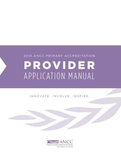 (2015 ANCC Primary Accreditation PROVIDER Manual)