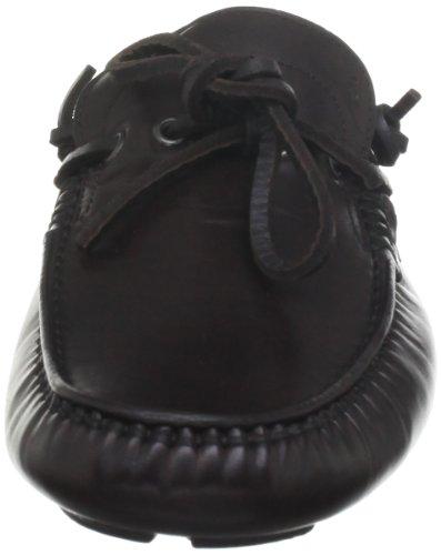 hombre cordones London cuero Henley Zapatos 2 Marrón Harrys Marrón Driver Oscuro de sin Satin of af1Bwx