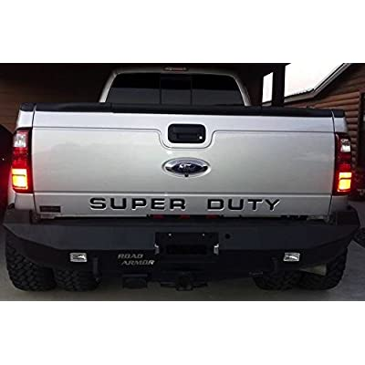 BDTrims Tailgate Raised Letters Compatible with 2008-2016 Super Duty Models (Black): Automotive