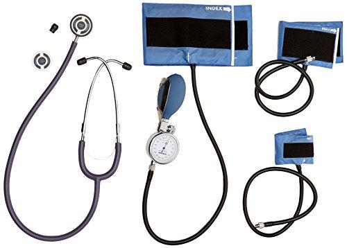 Riester 1440-501 Blutdruckmessgerät Set II, babyphon, Metall, 3 Klettenmanschetten, 1-Schlauch, duplex baby Stethoskop