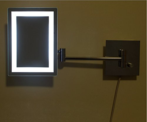Alhakin Makeup Mirror Square Wall Mounted Mirror Single