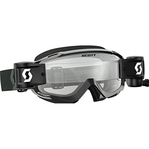 Scott Split OTG WFS Adult Off-Road Motorcycle Goggles - Black/White/Clear/One ()