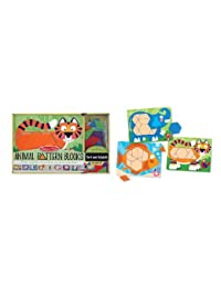 Melissa & Doug Animal Pattern Blocks Set With 5 Double-Sided Wooden Boards and 47 Multi-Shaped Blocks BOBEBE Online Baby Store From New York to Miami and Los Angeles