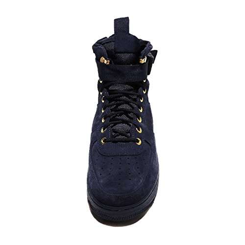 Nike Scarpe Uomo Wmns SF Air Force 1 Mid in Pelle e Tessuto Bianco 917753-101 Dunkelblau (Obsidian/Black) Colecciones A La Venta fDyrmaO