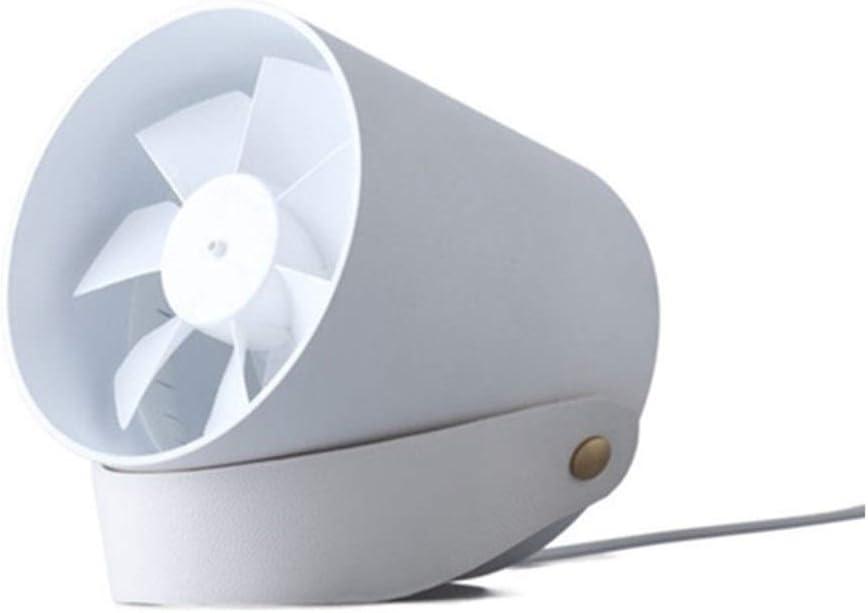 Mini Fan Portable Desktop Fan Silent Mini Fan USB Portable Desktop Smart Touch Double Fan 2 Gear Mute Table Fan Office Desktop Fan Size : White