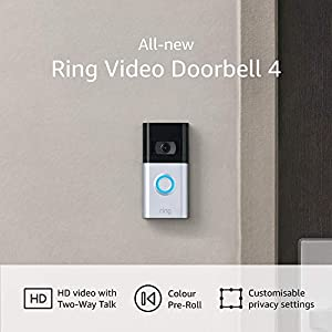 All-new Ring Video Doorbell 4 – improved 4-second colour video previews plus easy installation, and enhanced wifi – 2021 release