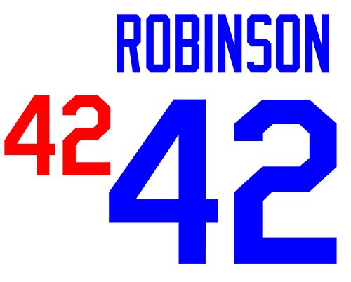- Jackie Robinson Los Angeles Dodgers Jersey Number Kit, Authentic Home Jersey Any Name or Number Available