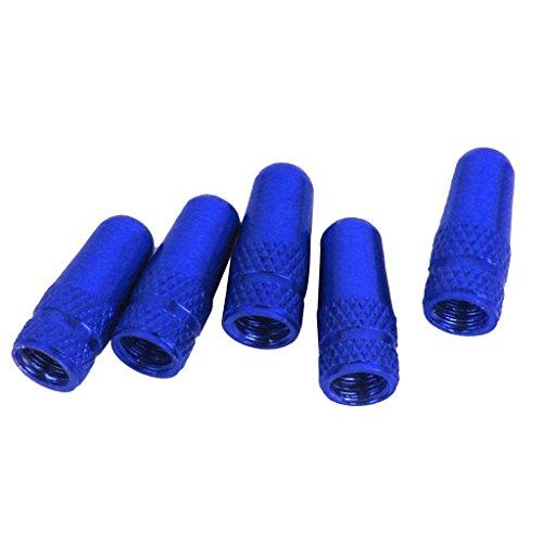 Myoffice アルミバルブキャップ 法式バルブ用 ブルー