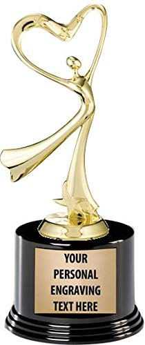 Crown Awards Dance Trophies with Custom Engraving, 7.25