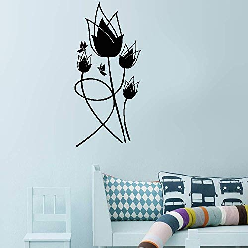 (Kuari Wall Sticker Family DIY Decor Art Stickers Home Decor Wall Art Tulipes Rouges for Living Room Bedroom)