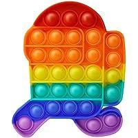 Brinquedo sensorial Push Pop It para alívio de estresse da família entre nós (entre nós arco-íris)