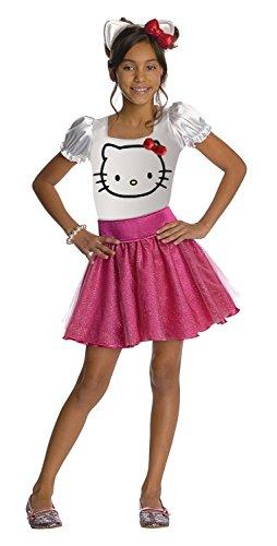 [Hello Kitty Tutu Dress Child Costume - Large] (Hello Kitty Child Costumes)