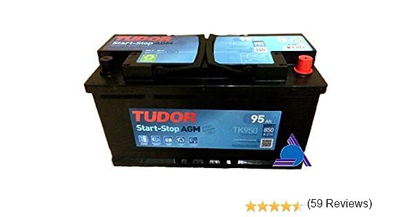 BATERIA START STOP AGM TUDOR TK950 - 95AH - 850A: Amazon.es: Coche y moto