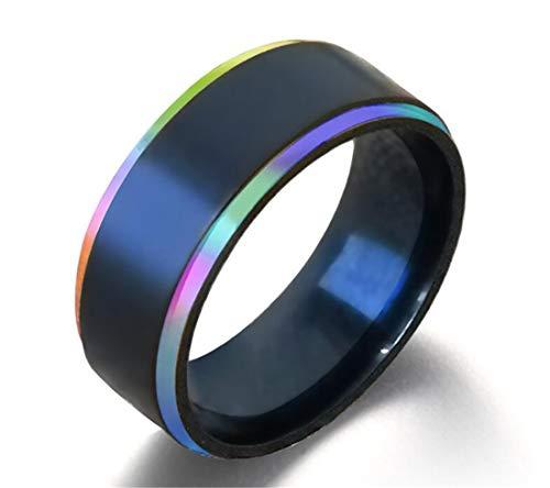 8 Mm Line Finish - Heyuni.1pc 8mm Black Titanium Steel Thin Line Polished Finish Wedding Band Ring Size 8