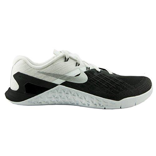 Nike Men's Metcon 3, BLACK/WHITE-WHITE-METALLIC SILVER, 12.5 M US by NIKE