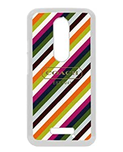 Fashionable Motorola Moto X 3rd Generation Screen Case ,Beautiful And Unique Designed Skin Case With Coach 16 White Moto X 3rd Gen Cover Case Great Quality Phone Case