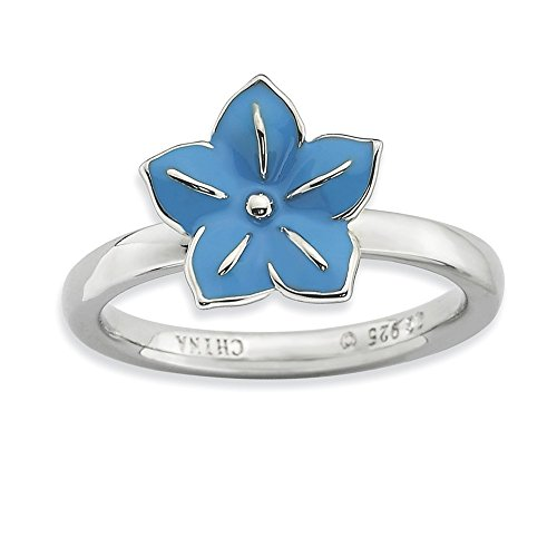 925 Sterling Silver Morning Glory Band Ring Size 10.00 Stackable Fine Jewelry Gifts For Women For Her ()