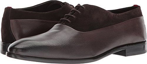 BOSS Hugo Boss Men's Dress Appeal Leather Oxford by Hugo Dark Brown 9.5 D US