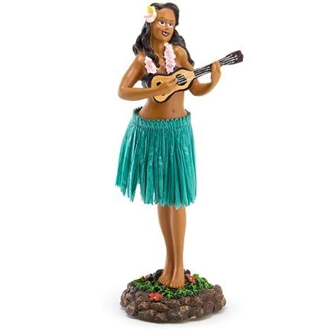 Solar-Powered Dancing Hula Girl Hawaiian Luau Party Bobble Head Doll Figure x