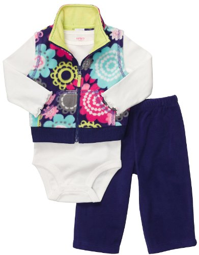 Carter's 3-Piece Quick & Cute Combo - Flowers-Purple-NB