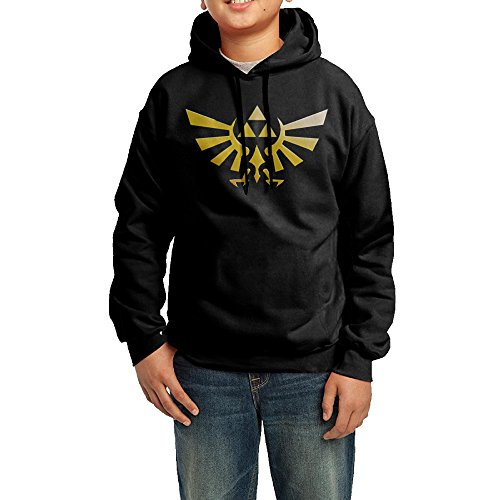 Price comparison product image Funny Black Pullover Hoodie The Legend Of Zelda Hoodie Design For Adolescent's