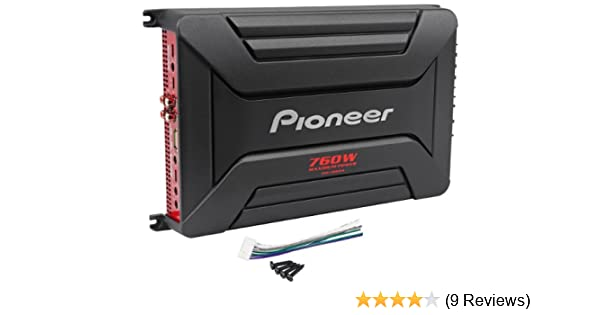 Amazon.com: Pioneer GM-A6604 4 Channel 760 Watts Peak/360 Watts RMS Bridgeable Car Amplifier: Cell Phones & Accessories