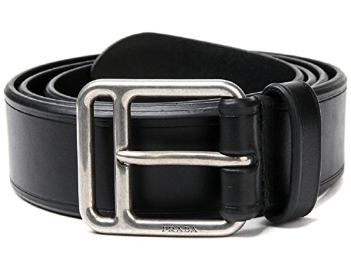 bf161e0e1cae Wiberlux Prada Men s Metal Buckle Leather Belt 85 Black - Buy Online in UAE.