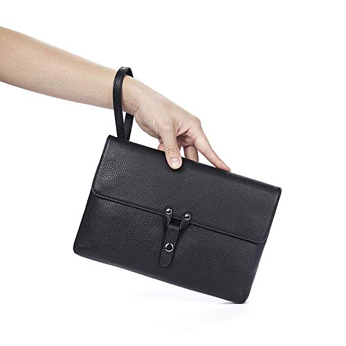 - Male Coupler High Capacity Dlong Section Briefcase Long Section Wallet Type of Packaging Cover Card Position Zipper Document (Color : Black, Size : -)