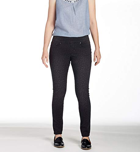 (Jag Jeans Women's Nora Skinny Pull on Jean, Leopard Black Print, 6)