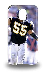 New Arrival Case Cover With Galaxy Design For Galaxy S5 NFL San Diego Chargers Junior Seau #55 ( Custom Picture iPhone 6, iPhone 6 PLUS, iPhone 5, iPhone 5S, iPhone 5C, iPhone 4, iPhone 4S,Galaxy S6,Galaxy S5,Galaxy S4,Galaxy S3,Note 3,iPad Mini-Mini 2,iPad Air )