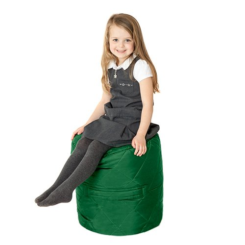 Fun!ture Green Quilted Water Resistant Round Bean Bag