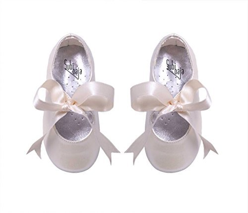 Shoes Bridal Victoria - Subibaja Victoria - Mary Jane Tie Ribbon Shoes for Baby Girls | Toddlers WP20 Pearl White