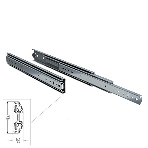 TCH Hardware 2 x 16'' inch 250 lb Heavy Duty Steel Drawer Slides - Full Extension Ball Bearing - Kitchen Cabinet Desk Draw by TCH