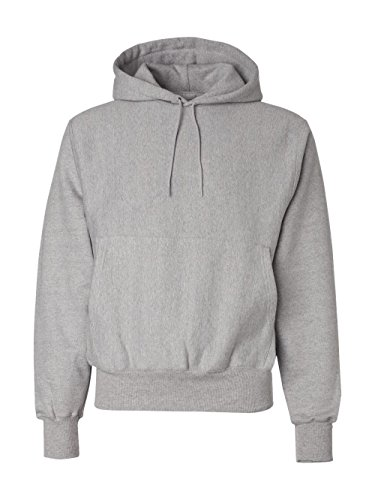 Champion 12 oz. 82/18 Reverse Weave Pullover Hood, Oxford Gray, S (Womens Champion Shorts Mesh 1)