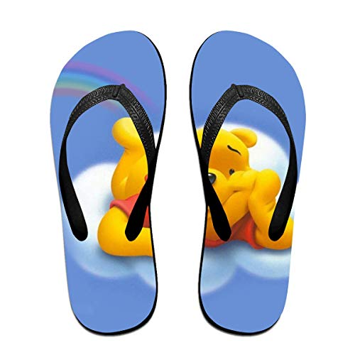 sport outdoor 003 Unisex Flip Flops Glitter Sandals Flying Winnie Pooh Classical Comfortable Slipper for - The Winnie Slippers Pooh