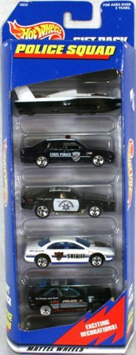Hot Wheels Police Squad 5 Car Gift Pack 1:64 Scale Collectible Die Cast Cars