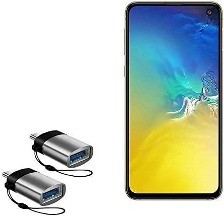 Slate Grey 2-Pack Samsung Galaxy S10e Cable USB Type-C OTG USB Portable Keychain for Samsung Galaxy S10e BoxWave USB Type-C PortChanger