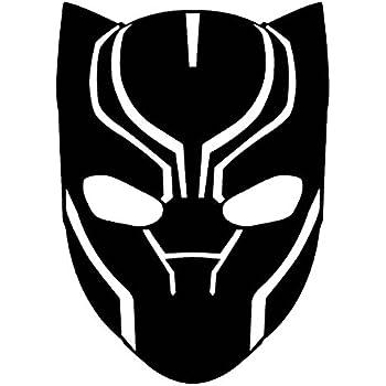 amazon com marvel comics avengers black panther head white 6 inch rh amazon com black panther head clipart black panther animal clipart