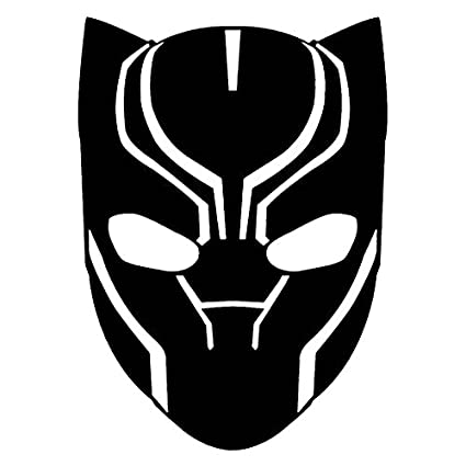 Marvel comics avengers black panther head black 6 inch die cut vinyl decal