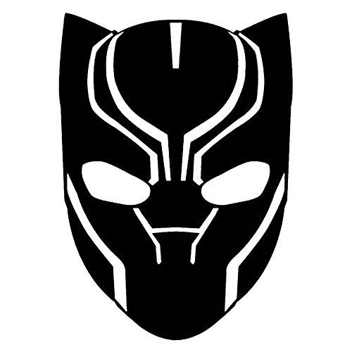 (Marvel Comics Avengers Black Panther Head, Black, 8 Inch, Die Cut Vinyl Decal, For Windows, Cars, Trucks, Toolbox, Laptops, Macbook-virtually Any Hard Smooth Surface)