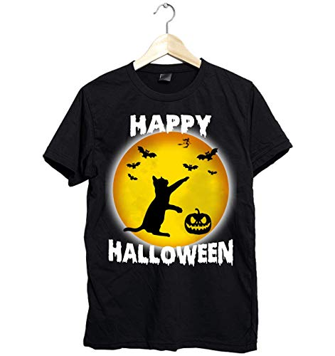 Amazing Funny Happy Halloween Cat shirt - Perfect Gift for Cat Mom this Halloween - Fast Shipping Size Up To 6XL]()