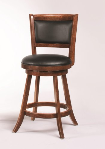 Coaster 101919 Swivel Bar Stool 24 Inch Upholstered Seat Back Set Of