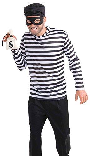DISC0UNTST0RE Burglar Adult Costume Halloween Costume - Most Adults ()