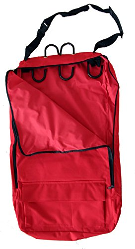 Deluxe Bridle Halter Tote Bag with Removable Tack Rack Red Deluxe Tack