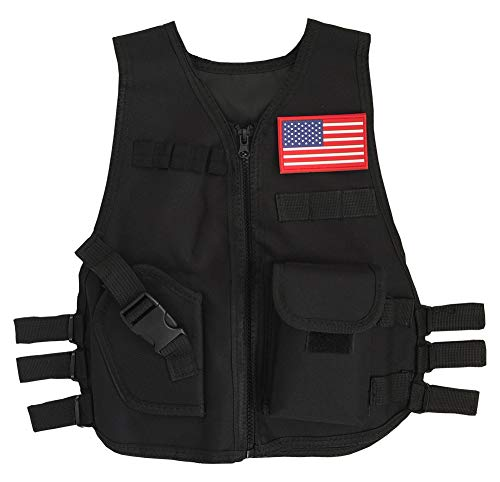 Gskids Tactical Vest Children Adjustable Military Fans Clothing Muti
